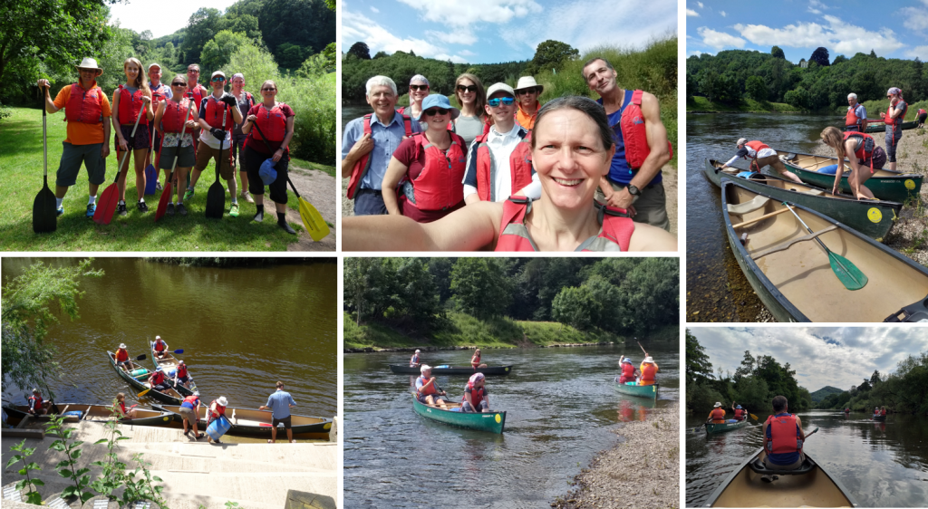 Merlin team out canoeing